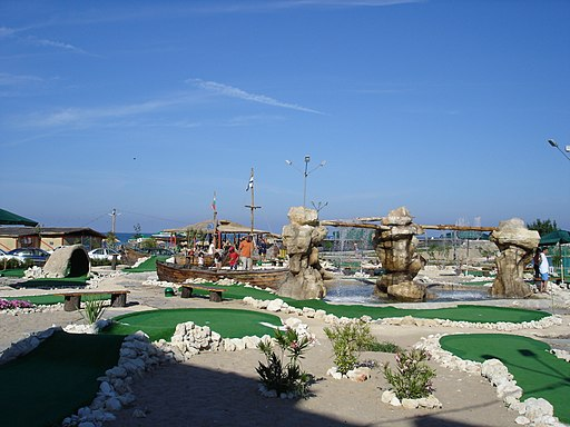 Minigolf Playground in Golden Sands, Varna