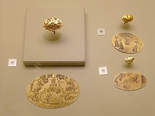 Minoan gold seal rings
