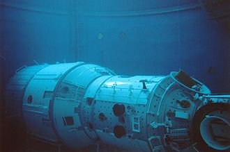 Star City, Russia - Mir mockup in the training center pool