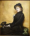 Miss H. (Agnes Huntington) by Douglas Volk, 1880, oil on canvas - Peabody Essex Museum - DSC06944.jpg