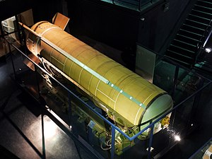 S3 (missile) - Image: Missile S3 1er etage Musee du Bourget P1010432