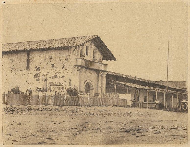 Misión de San Francisco de Asís (Misión Dolores). Imagen tomada entre 1880 y 1902.