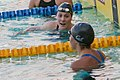 Missy Franklin with Elizabeth Pelton after 200m freestyle (18791085400).jpg
