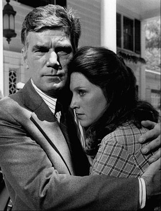 Executive Suite - Mitchell Ryan and Wendy Phillips in a 1976 scene from the show.