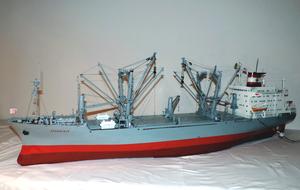 DDG Hansa - Image: Model of Bremer DDG Hansa Heavy Lift Sturmfels, port side