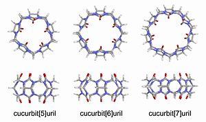 Cucurbituril - Image: Models of cucurbiturils