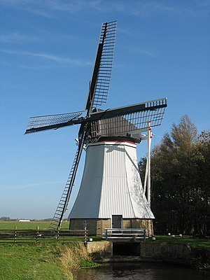 Windpump - De Olifant at Burdaard, Friesland