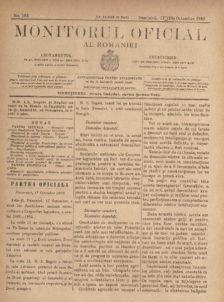 File:Monitorul Oficial al României 1882-10-17, nr. 163.pdf