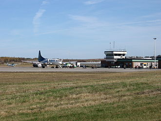 Mont-Joli Airport - Apron, terminal, and control tower