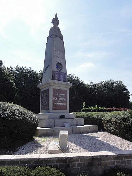 Mont-d'Origny (Aisne) monument aux morts