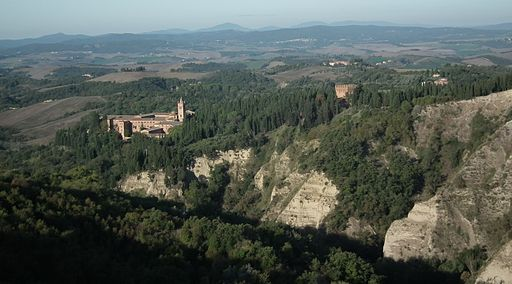 The Abbey of Monte Oliveto Maggiore in the Crete Senesi