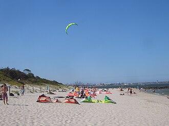 Monterey, New South Wales - Image: Monterey kitesurfing 2