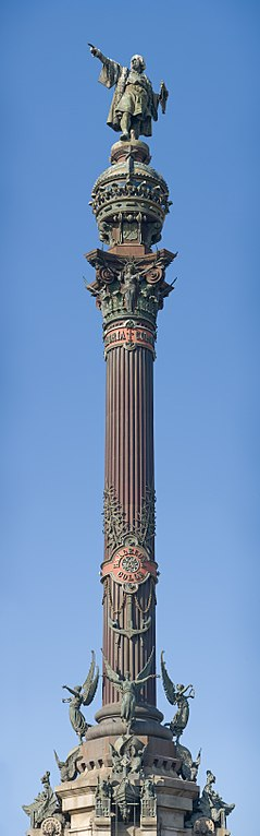 The Columbus monument, built in 1888, honors Christopher Columbus' first voyage to the Americas. Photo by Diliff.