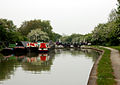 Moored boats above lock, Grand Union Canal, Itchington - geograph.org.uk - 1303545.jpg