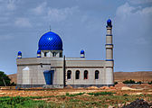 Mosque under construction in Kyrgyzstan.jpg
