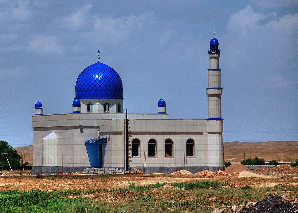 Mosque under construction in Kyrgyzstan