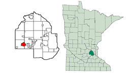 Location of Mound within Hennepin County, Minnesota
