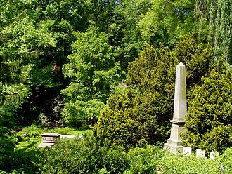 Rural cemetery - Hunnewell family obelisk in Mount Auburn Cemetery