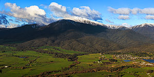 Mount Bogong - The western flank of Mount Bogong