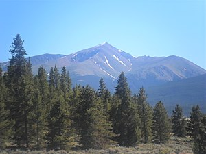 Sawatch Range - Mount Elbert, the highest peak in the Rocky Mountains.