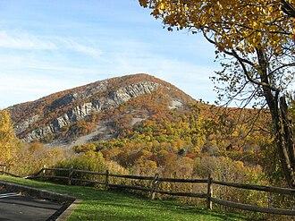 Mount Tammany - Mount Tammany 's south face, November 2008