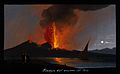 Mount Vesuvius in eruption at night, with smoke, fire, and l Wellcome V0025244.jpg