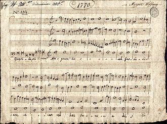 """Accademia Filarmonica di Bologna - Antiphon """"Quaerite primum regnum Dei"""" Examination exercise of Padre Martini's pupil 14-year-old Mozart, 9 October 1770, Bologna"""