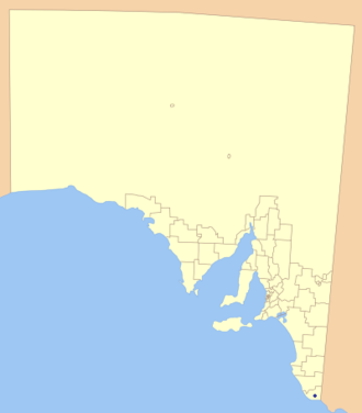 City of Mount Gambier - Location of the City of Mount Gambier in blue