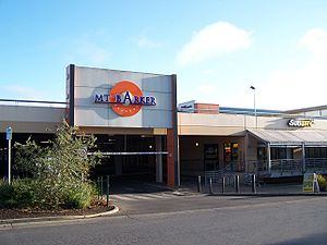 Mount Barker, South Australia - The south entrance to Mount Barker Central, the largest shopping centre in Mount Barker