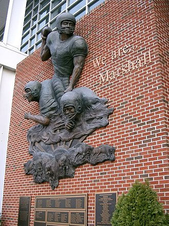 Joan C. Edwards Stadium - Image: Mu memorial on the joan
