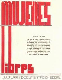 """Publicación Nº 1 de """"Mujeres Libres"""""""