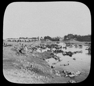 Great Musi Flood of 1908 - Musi river scene in 1895