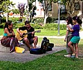 Musician couple and two young girls fans (48332957957).jpg