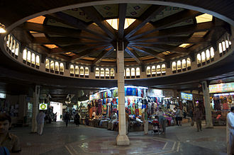 Economy of Oman - Traditional souqs (this one at Muttrah) are very common in Oman and have formed the bulk of Omani economy in the past