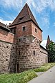 Nürnberg, Stadtbefestigung, Frauentormauer, Mauerturm Rotes N 20170616 001.jpg