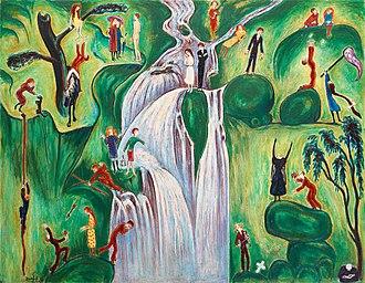 "Nils Dardel - ""Vattenfallet"", 1921 – sold in 2012 for a record-breaking 25 million kronor."
