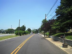 New Jersey Route 160 - The first stretch of former Route 160 in 2016 heading northbound on Mission Road.