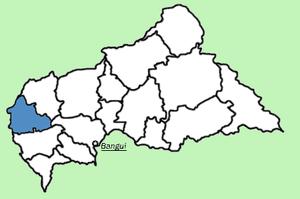 Нана-Мамбере на карте
