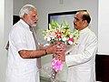 Narendra Modi meets Manohar Joshi in Gandhinagar.jpg