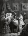 Nascimento do filho de D. Miguel de Bragança (c. 1853) - Lith. de Maurin.png
