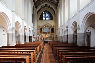 Church of St Clare, Liverpool - Image: Nave of St Clare's RC church, Liverpool