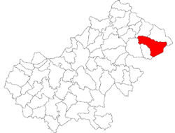 Location of Negrești-Oaș