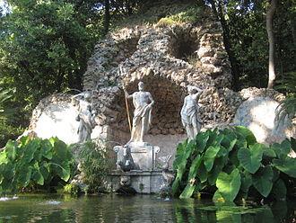 Arboretum - Neptune's fountain at Trsteno Arboretum