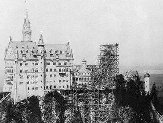 Neuschwanstein Castle - Neuschwanstein in 1886
