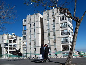 Neve Yaakov - High-rise apartment buildings along Neve Yaakov Blvd.