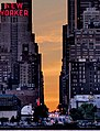 New Yorker building with sunrise over 34th St in Manhattan.jpg