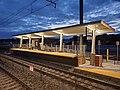 New southbound mini-high platform at Mansfield station, October 2020.jpg