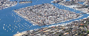 Balboa Island in Newport Beach CA March 28 2010