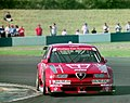 Nicola Larini - Alfa Corse - Alfa Romeo 155 V6 TI 94 at Melbourne Hairpin (46745264191).jpg