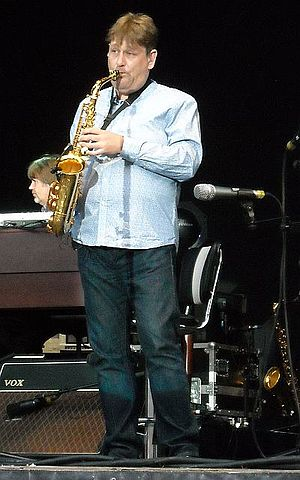 Nigel Hitchcock - On state with Mark Knopfler in Dresden, Germany, 4 July 2013